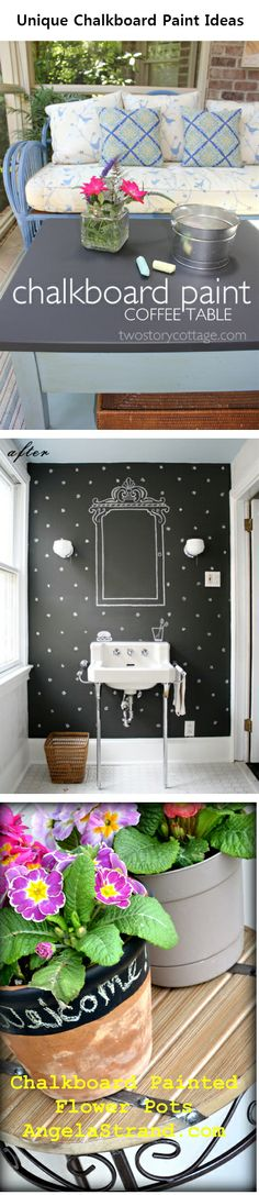 Unique Chalkboard Paint Ideas-love The idea with The wall: easly changed