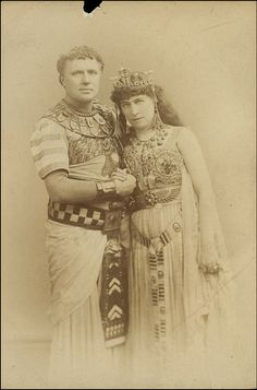Photograph of Lillie Langtry as Cleopatra and Charles Coghlan as Antony in Antony and Cleopatra at the Princess' Theatre.   o...