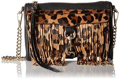 Rebecca Minkoff Mini Mac Cross Body Bag, Leopard,