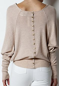 Leigh Sweater...I like tops with interesting backs...this is cute.