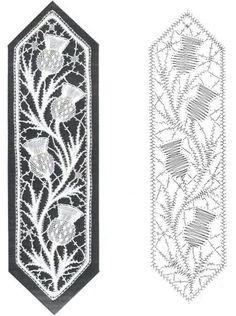 Marcapaginas designed by Jean Leader, England Bobbin Lace Patterns, Embroidery Patterns, Loom Patterns, Bobbin Lacemaking, Lace Art, Cutwork Embroidery, Lace Jewelry, Lace Earrings, Point Lace