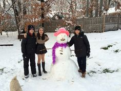 Thsgiving snow with cousins