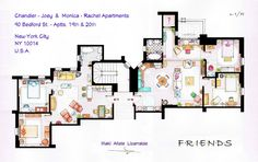 Os apartamentos dos nossos personagens de séries preferidos