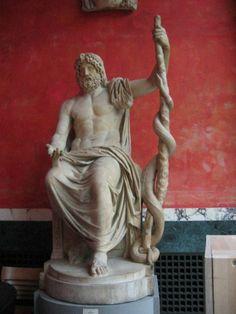 По греческой мифологии Асклепий (Эскулап – у римлян) – бог врачевания, сын Аполлона и нимфы Корониды, дочери царя лапифов Флегия (по другой версии, Арсинои, дочери Левкиппа), которая была убита Аполлоном за измену. Когда тело Корониды сжигали в Эпидавре на погребальном костре, Аполлон вынул из ее чрева младенца. Так, путем «кесарева сечения» («кесарево», то есть царское; предполагают, что этим же способом родился и Юлий Цезарь в 102 году до н. э., с чем также связывают название этой операции
