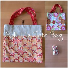 Roll Up Tote Bag Tutorial