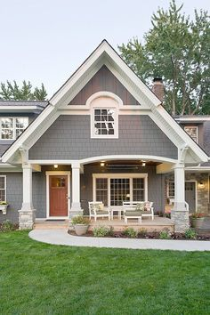 Beautiful Grey Exterior Paint Dark Grey Exterior Paint With White Trim Kendall Charcoal BM, Wooden Doors.