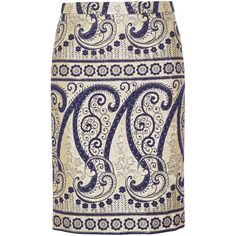 Collection paisley-jacquard pencil skirt (¥26,050) ❤ liked on Polyvore featuring skirts, bottoms, knee length pencil skirt, j.crew, jacquard pencil skirt, j. crew skirts and pencil skirt