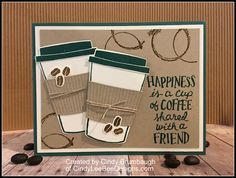 July 20, 2017 Oh, here is a trendy stamp set, the Coffee Cafe! Check out this Stampin' Up video on how many cool things you can do with the Bundle! I made this card with the Coffee Cafe Bundl…