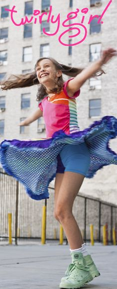 Reversible skirts for girls, from TwirlyGirl. Two moods: happy and happier! Click to see more!