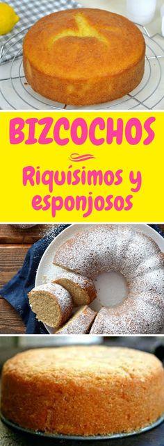 Los bizcochos riquísimos y esponjosos que son furor en las redes #quiero #quierocakesblog Deli, Doughnut, Deserts, Food And Drink, Cupcakes, Favorite Recipes, Bread, Cookies, Chocolate