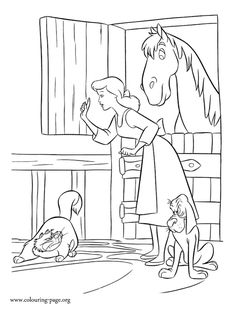 In this beautiful picture, Cinderella protects her friends from Lucifer. Enjoy with this free Cinderella coloring sheet. Just print it out! Fish Coloring Page, Bible Coloring Pages, Alphabet Coloring Pages, Adult Coloring Pages, Coloring Pages For Kids, Coloring Sheets, Coloring Books, Printable Coloring, Cinderella Coloring Pages