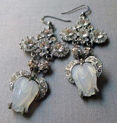 vintage assemblage earrings