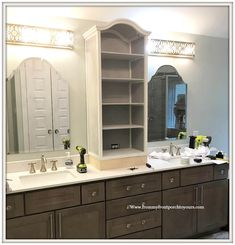 Master Bathroom Makeover-French Farmhouse-DIY Cabinet-From My Front Porch To Yours