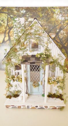 The Little White Cottage Custom Dollhouse by cinderellamoments, $525.00