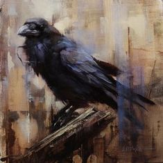 Crow Art, Raven Art, Bird Art, Raven Totem, Rabe Tattoo, Crow Painting, Encaustic Painting, Crows Ravens, Foto Art