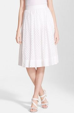 kate+spade+new+york+pleated+eyelet+a-line+skirt+available+at+#Nordstrom