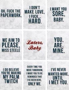 OMG love these quotes lol  Fifty Shades of Grey Quotes