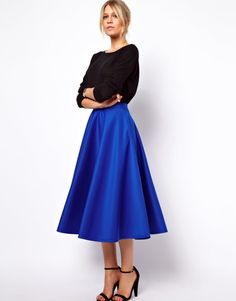 Wish all women still dressed like this! Full Midi Skirt