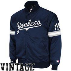 Mitchell   Ness New York Yankees Vintage MLB Backup Satin Jacket - Navy Blue 2d31a94cfa4d