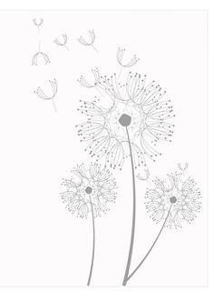 Coloring page dandelions
