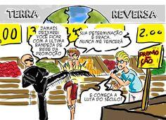 RABISCOS ENQUADRADOS: TERRA REVERSA 97: LUTA DO SÉCULO