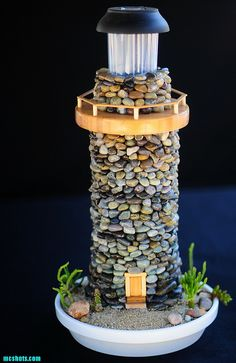 SucculentGardenSolarLighthouse112 | solar lighthouses with l… | Flickr