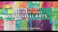 A trip to the hardware store with Gelli Arts® - by Birgit Koopsen