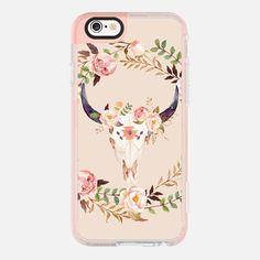 Watercolour Floral Bull Skull - New Standard Pastel Case