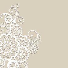 Flower vector ornament background