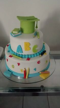 Teachers Day Cake, Teacher Cakes, College Graduation Cakes, Graduation Desserts, Congratulations Cake, School Cake, Cake Supplies, Lego Cake, Different Cakes