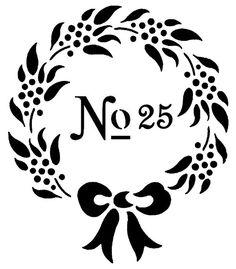 STENCIL Wreath with Bow