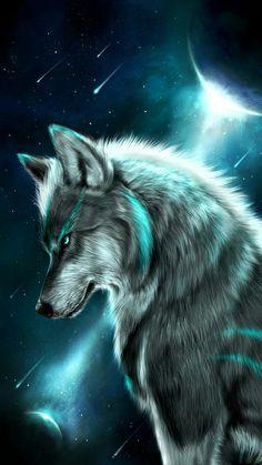 Fondos Lobos 🐺 shared by MC on We Heart It Anime Wolf, Artwork Lobo, Wolf Artwork, Wolf Love, Bad Wolf, Wolf Painting, Diy Painting, Fantasy Wolf, Mosaic Animals