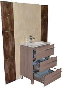 A 32 Socimobel Aurora 3 Drawer Bathroom Vanity Estepa 214 Finish Made In Spain Ceramic Sink