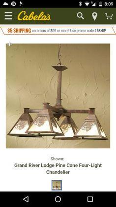 Pinecone chandelier Cabelas