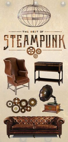 The Best Of Steampunk: Follow a winding staircase to a room filled with whirling gears and mysterious levers. Here you'll find all of the best Steampunk looks—hand picked by our curators just for you. Shop Now at dotandbo.com!
