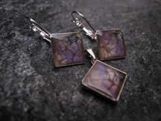 A set of earrings and pendant made of jewelery beds, Fantasy Prisme colors and crystal resin