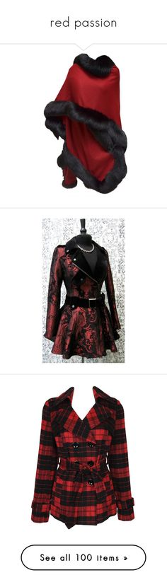 """red passion"" by kairi92 ❤ liked on Polyvore featuring outerwear, coats, jackets, cape, red, red coats, wrap cape coat, wrap coat, wrap cape and cashmere wrap coat"