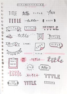 Bullet Journal Setup Ideas {The layouts your BUJO might be missing!} Take your bujo to the next level with these creative Bullet Journal setup ideas (that you can adopt at any time of the year! Bullet Journal Inspo, Organization Bullet Journal, My Journal, Journal Pages, Bullet Journal Headers, Bullet Journal Title Fonts, Bullet Journal Beginning, Bullet Journal Ideas Handwriting, Bullet Journal Banner