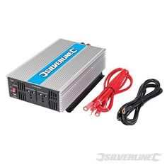 Inverter Silverline Converts AC mains supply to a AC. Perfect for use in most cars, vans, caravans and boats to run day-to-day. Tool Store, Caravans, Power Tools, Boats, Solar Panels, Electrical Tools, Ships, Boat, Ship