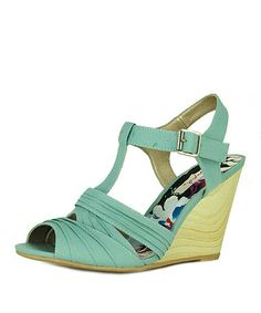 Look at this #zulilyfind! Sage Pleated Gipsy Wedge Sandal by Qupid #zulilyfinds
