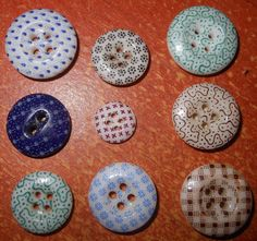 Different Antique China Calico Buttons Colors 4 Different Sizes | eBay