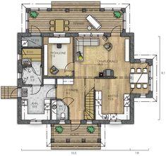AURORA 151 - Kannustalo Aurora, Own Home, Future House, House Plans, Sweet Home, Floor Plans, Diagram, How To Plan, Architecture
