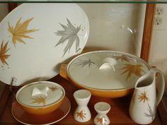Mid-century dishware. Ben Seibel, Harvest Time pattern