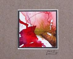 Miniature, Watercolor, Small, Abstract Art, Gift – Watercolor – Painting & Collage … - Do it Yourself Abstract Watercolor Art, Watercolor And Ink, Watercolor Paintings, Illustration Blume, Watercolor Illustration, Painting Collage, Beginner Painting, Artist Art, Diy Art