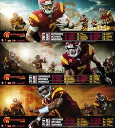Trojan 2011 Football Schedule Posters