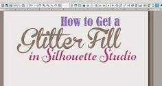How to Make a Glitter Fill in Silhouette Studio