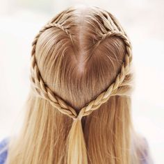 The Heart Braid hair pretty hair hairstyle hair ideas beautiful hair hair cuts heart braid Plaits Hairstyles, Braided Hairstyles Tutorials, Pretty Hairstyles, Easy Hairstyles, Hairstyle Ideas, Holiday Hairstyles, Style Hairstyle, Kids Hairstyle, Simple Hairdos