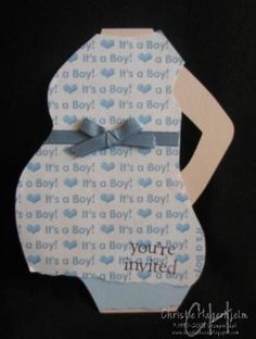Baby shower invite card: