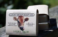 LUCKY BEAR SOAP CO., organic soaps and more, made in Tillamook, Oregon. A 2014 Martha Stewart American Made Nominee. (O / USA)