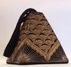 egyptian revival beaded purse - Google Search